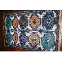 Kurdish Knotted Pile Rug, 1683. SALE