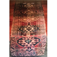 Kurdish Knotted Pile Runner, 1687. SALE