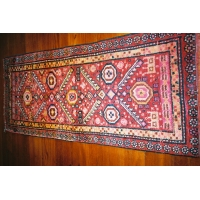 Kurdish Knotted Pile Runner, 1689. SALE