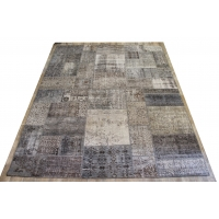 Overdyed Patchwork Rug, 2391