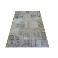 Overdyed Patchwork Rug, 2402