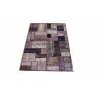 Overdyed Patchwork Rug, 2404