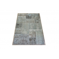 Overdyed Patchwork Rug, 2407