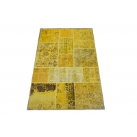 Overdyed Patchwork Rug, 2417