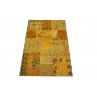 Overdyed Patchwork Rug, 2418