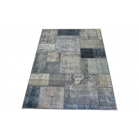 Overdyed Patchwork Rug, 2421