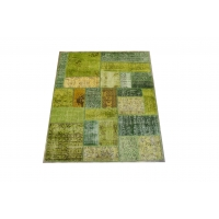 Overdyed Patchwork Rug, 2425