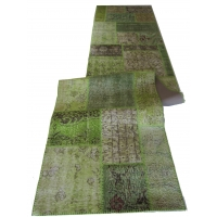 Overdyed Patchwork Runner, 2435