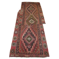 Anatolian Semi-old Kilim Runner, 2447