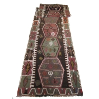 Anatolian Semi-old Kilim Runner, 2448