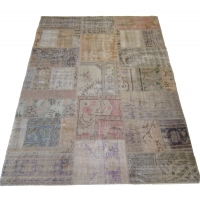 Overdyed Patchwork Rug, 2510
