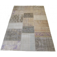 Overdyed Patchwork Rug, 2511