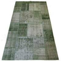 Overdyed Patchwork Rug, 2512