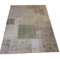 Overdyed Patchwork Rug, 2513