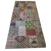 Anatolian Vintage Patchwork Rug, 2514