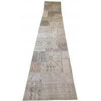 Overdyed Patchwork Runner, 2516