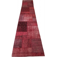 Overdyed Patchwork Runner, 2518