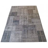 Overdyed Patchwork Rug, 2522