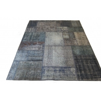 Overdyed Patchwork Rug, 2523