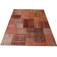 Overdyed Patchwork Rug, 2524