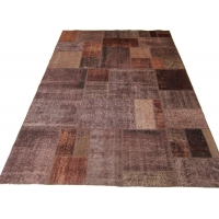 Overdyed Patchwork Rug, 2528