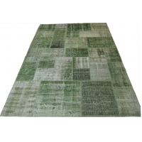 Overdyed Patchwork Rug, 2529