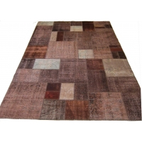 Overdyed Patchwork Rug, 2530
