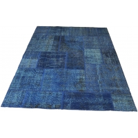 Overdyed Patchwork Rug, 2532