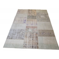 Overdyed Patchwork Rug, 2538