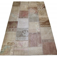 Anatolian Vintage Patchwork Rug, 2545