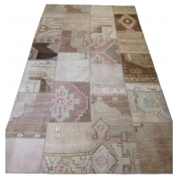 Anatolian Vintage Patchwork Rug, 2546