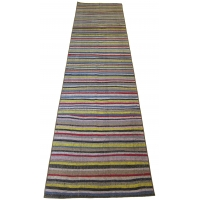 Anatolian Vintage Kilim Striped Runner, 2549