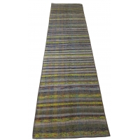 Anatolian Vintage Kilim Striped Runner, 2551