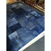 Overdyed Patchwork Rug, 2583