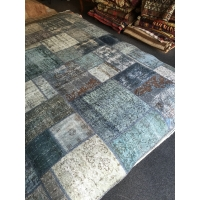 Overdyed Patchwork Rug, 2584