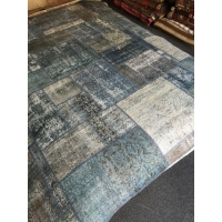 Overdyed Patchwork Rug, 2586