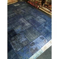 Overdyed Patchwork Rug, 2587