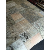 Overdyed Patchwork Rug, 2590