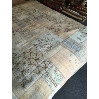 Overdyed Patchwork Rug, 2591