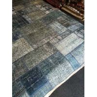Overdyed Patchwork Rug, 2593