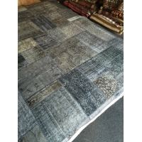 Overdyed Patchwork Rug, 2595