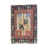 Turkish Kilim Rug, 2670