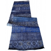 Overdyed Patchwork Runner, 2734