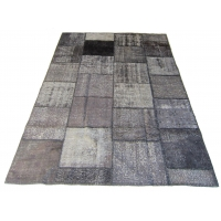 Overdyed Patchwork Rug, 2255
