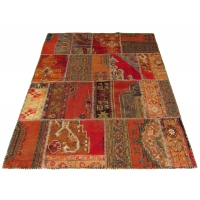 Anatolian Vintage Patchwork Rug, 2261