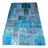 Overdyed Patchwork Rug, 2318