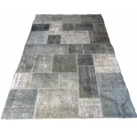 Overdyed Patchwork Rug, 2319
