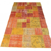 Overdyed Patchwork Rug, 2321