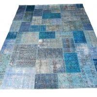 Overdyed Patchwork Rug, 2325