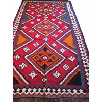 Semi Old Persian Qasghai Kilim, 1937. SALE